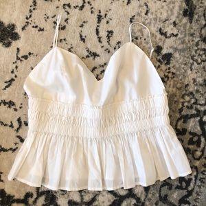 express peplum white blouse